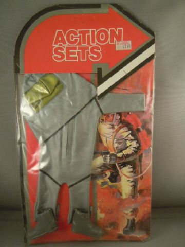 VINTAGE ACTION MAN - KNOCK-OFF ACTION JACK CRASH CREW CARDED SET